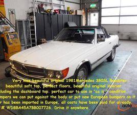 MERCEDES-BENZ 380SL ROADSTER WHITE - € 18.850 À VENDRE