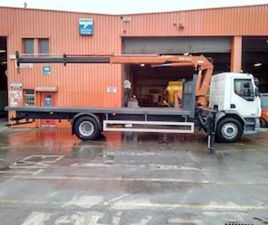 DAF LF55, 18T FLATBED WITH HIAB -CURRENTLY ON HIRE FOR SALE IN DUBLIN FOR € ON DONEDEAL