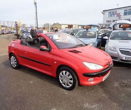 PEUGEOT 206 CC COUPE CABRIOLET S 2-DOOR RED 2001