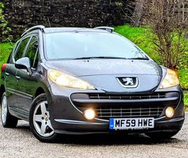 PEUGEOT 207 SW 1.4 VTI SPORT ESTATE 5DR PETROL MANUAL (140 G/KM, 95 BHP)FSH! ONLY 1 OWNER