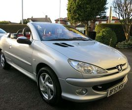PEUGEOT 206 CC 1.6 ALLURE 2DR (A/C)1 LADY OWNER+RED/BLACK LEATHER