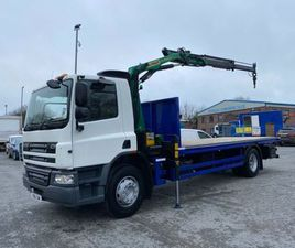 2011 DAF CF 65 220 18 TON FLAT WITH REMOTE CRANE FOR SALE IN ARMAGH FOR €1 ON DONEDEAL