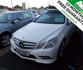 £12,995 | MERCEDES-BENZ E CLASS 3.0 E350 CDI BLUEEFFICIENCY SPORT CABRIOLET G-TRONIC 2D