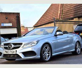 £16,450 MERCEDES-BENZ E CLASS 2.0 E200 AMG SPORT CABRIOLET 7G-TRONIC PLUS 2DR