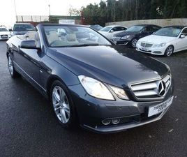 MERCEDES-BENZ E CLASS 2.1 E250 CDI BLUEEFFICIENCY SE CABRIOLET 2DRONLY 1 FORMER KEEPER,FUL