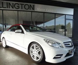 MERCEDES-BENZ E CLASS 3.0 E350 CDI BLUEEFFICIENCY SPORT CABRIOLET G-TRONIC 2DRLOW MILES+NA