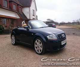 55 REG 2005 AUDI TT ROADSTER, 3.2 QUATTRO, SPECIAL ORDERED CREAM LEATHER, MANUAL 6 SPEED