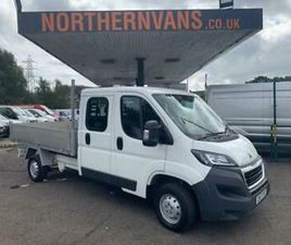 2017 PEUGEOT BOXER 2.0 BLUEHDI CREW CAB TIPPER 130PS TIPPER DIESEL MANUAL