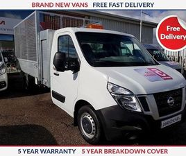 NISSAN NV400 L3 CAGED TIPPER WITH TOOL BOX WHITE 2019
