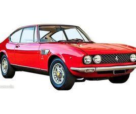 1968 FIAT DINO V6 FERRARI 2,4L COUPÉ 2000 PAR BERTONE ROUGE COURSE, INTERIEUR ROUGE ET BLA
