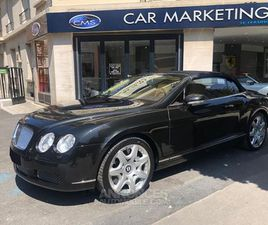 BENTLEY CONTINENTAL GTC GT CABRIOLET 6.0 W12 A