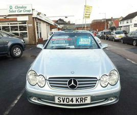 2004 MERCEDES-BENZ CLK 200 ELEGANCE AUTO FROM £3,995 + RETAIL PACKAGE CABRIOLET