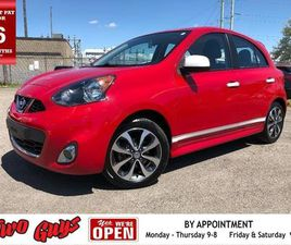 USED 2015 NISSAN MICRA SR | STICK | A/C | POWER GROUP | ALLOYS |