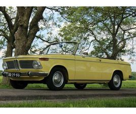 BMW 1600 VOLLCABRIO (1969) CONDORGELB LEDER SCHWARZ