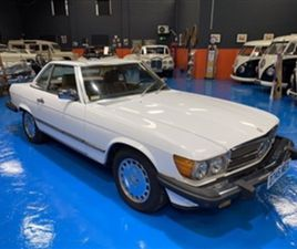 USED 1985 MERCEDES-BENZ SL CLASS 5.5 560 SL 2D CONVERTIBLE 54,000 MILES IN WHITE FOR SALE