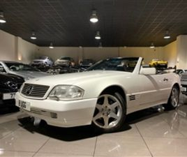 USED 1994 MERCEDES-BENZ SL CLASS R129 WHITE BLACK LEATHER BOSE CONVERTIBLE 66,250 MILES IN