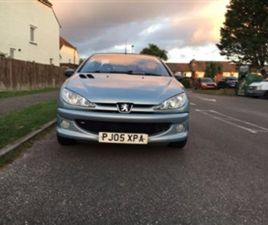 USED 2005 PEUGEOT 206 ALLURE S COUPE CABRIOLET CONVERTIBLE 103,000 MILES IN SILVER FOR SAL