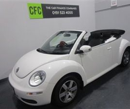 USED 2010 VOLKSWAGEN BEETLE 1.6 LUNA CONVERTIBLE 45,000 MILES IN WHITE FOR SALE | CARSITE
