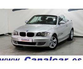 BMW SERIE 1 D CABRIO 177CV DESCAPOTABLE O CONVERTIBLE DE SEGUNDA MANO EN MADRID   AUTOCASI