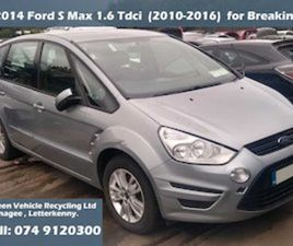 FORD S-MAX, 2014 1.6 TDCI FOR BREAKING FOR SALE IN DONEGAL FOR € ON DONEDEAL