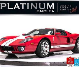 USED 2006 FORD GT 550HP, SUPERCHARGED V8, COLLECTORS CAR, 54 MILES