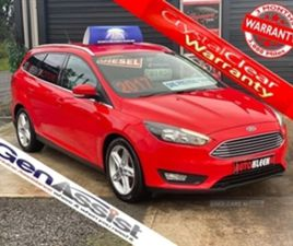 USED 2017 FORD FOCUS ZETEC EDITION TDCI ESTATE 80,000 MILES IN RED FOR SALE | CARSITE