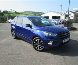 USED 2017 FORD KUGA ST-LINE TDCI NOT SPECIFIED 38,250 MILES IN BLUE FOR SALE | CARSITE