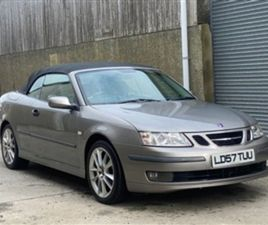 USED 2007 SAAB 9-3 1.9 VECTOR TID 2D 150 BHP CONVERTIBLE 100,000 MILES IN GREY FOR SALE  