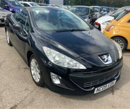 USED 2009 PEUGEOT 308 1.6 VTI SPORT 2DR CONVERTIBLE 95,698 MILES IN BLACK FOR SALE | CARSI