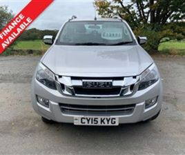 USED 2015 ISUZU D-MAX 2.5 TD UTAH DCB 164 BHP NOT SPECIFIED 50,369 MILES IN SILVER FOR SAL
