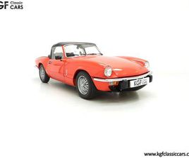 AN ASTONISHING EX TSSC MUSEUM DISPLAY TRIUMPH SPITFIRE 1500 WITH 11,403 MILES (1979)