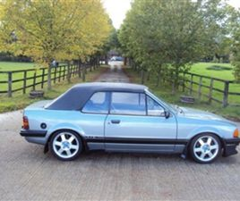 USED 1985 FORD ESCORT XR3I CONVERTIBLE 52,000 MILES IN GREY FOR SALE   CARSITE