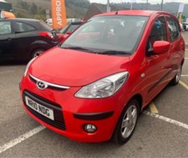 USED 2010 HYUNDAI I10 COMFORT HATCHBACK 46,485 MILES IN RED FOR SALE | CARSITE