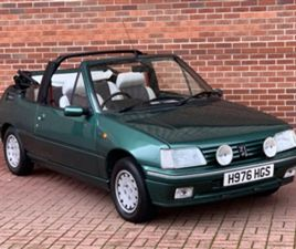 USED 1990 PEUGEOT 205 1.4 ROLAND GARROS 2DR CONVERTIBLE 129,000 MILES IN GREEN FOR SALE  