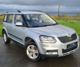 USED 2014 SKODA YETI 2.0 OUTDOOR S TDI CR 5D 109 BHP HATCHBACK 75,000 MILES IN SILVER FOR
