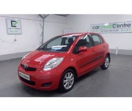 USED 2009 TOYOTA YARIS 1.3 TR VVT-I 5D 99 BHP HATCHBACK 81,616 MILES IN RED FOR SALE   CAR