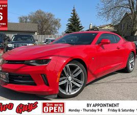 USED 2018 CHEVROLET CAMARO 1LT RS | AUTO | SUNROOF | BOSE | B/UP CAM |