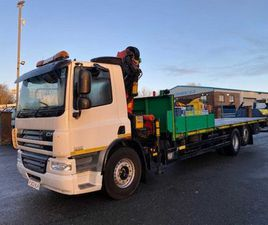 2013 DAF CF 75 310 6X2 18TM REMOTE CRANE FLAT FOR SALE IN ARMAGH FOR €1 ON DONEDEAL