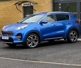 USED 2019 KIA SPORTAGE GT-LINE CRDI ISG NOT SPECIFIED 21,500 MILES IN BLUE FOR SALE | CARS