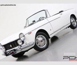 FIAT 1500 CABRIOLET BLANC D'OCCASION, MOTEUR ESSENCE ET BOITE MANUELLE, 10.100 KM - 27.999