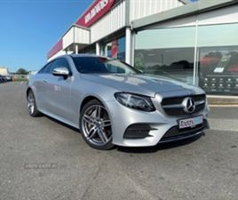 USED 2019 MERCEDES-BENZ E CLASS E 350 AMG LINE PREMIUM COUPE 3,000 MILES IN SILVER FOR SAL