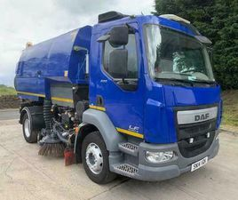 2014 14 DAF LF 220 EURO 6 LHD JOHNSTON VT651 DUAL SWEEP ROAD SWEEPER