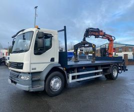 2012 DAF LF 55 220 18 TON FLAT WITH CRANE AND GRAB FOR SALE IN ARMAGH FOR €1 ON DONEDEAL