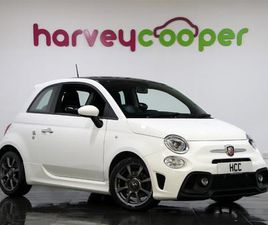 ABARTH 595 16INCH 8 SPOKE ALLOYS LED DAYTIME RUNNING LIGHTS UCONNECT 5INCH TOUCHSCREEN
