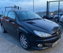USED 2004 PEUGEOT 206 GTI HDI 110 HATCHBACK 114,303 MILES IN GLEAMING BLACK FOR SALE | CAR