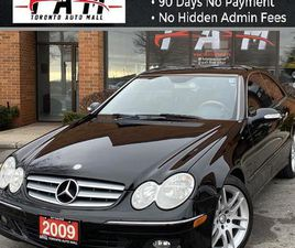 USED 2009 MERCEDES-BENZ CLK 350 COUPE SUNROOF LEATHER HEATED/COOLING SEATS CLEAN CARFAX NO