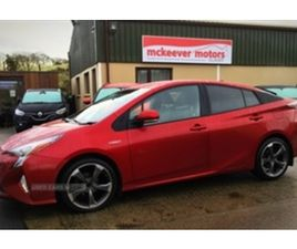 USED 2018 TOYOTA PRIUS BUSINESS ED + VVT-I HATCHBACK 53,000 MILES IN 'HYPERSONIC' RED PEAR