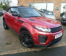 LAND ROVER EVOQUE TD4 DYNAMIC CONVERTIBLE 2017 17 FIRENZE RED NEW HOOD