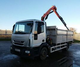 IVECO EUROCARGO 12 TON WITH CRANE DROPSIDE & RAMP FOR SALE IN DOWN FOR €1 ON DONEDEAL