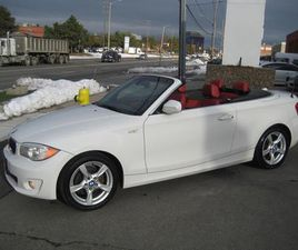 USED 2012 BMW 1 SERIES 2DR CABRIOLET 128I 6-SPEED ONE OWNER